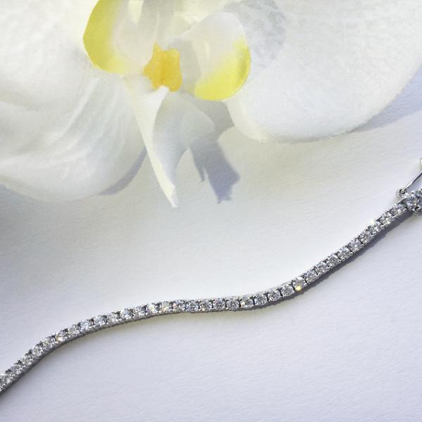 Tennis Bracelet Loyalty 18 cm – White zirconia, classic claw setting