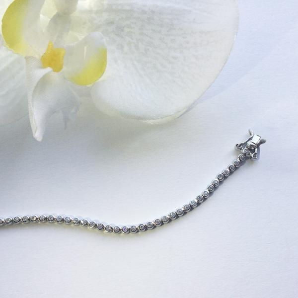 Tennis Bracelet Spirit 18 cm – White zirconia, round set